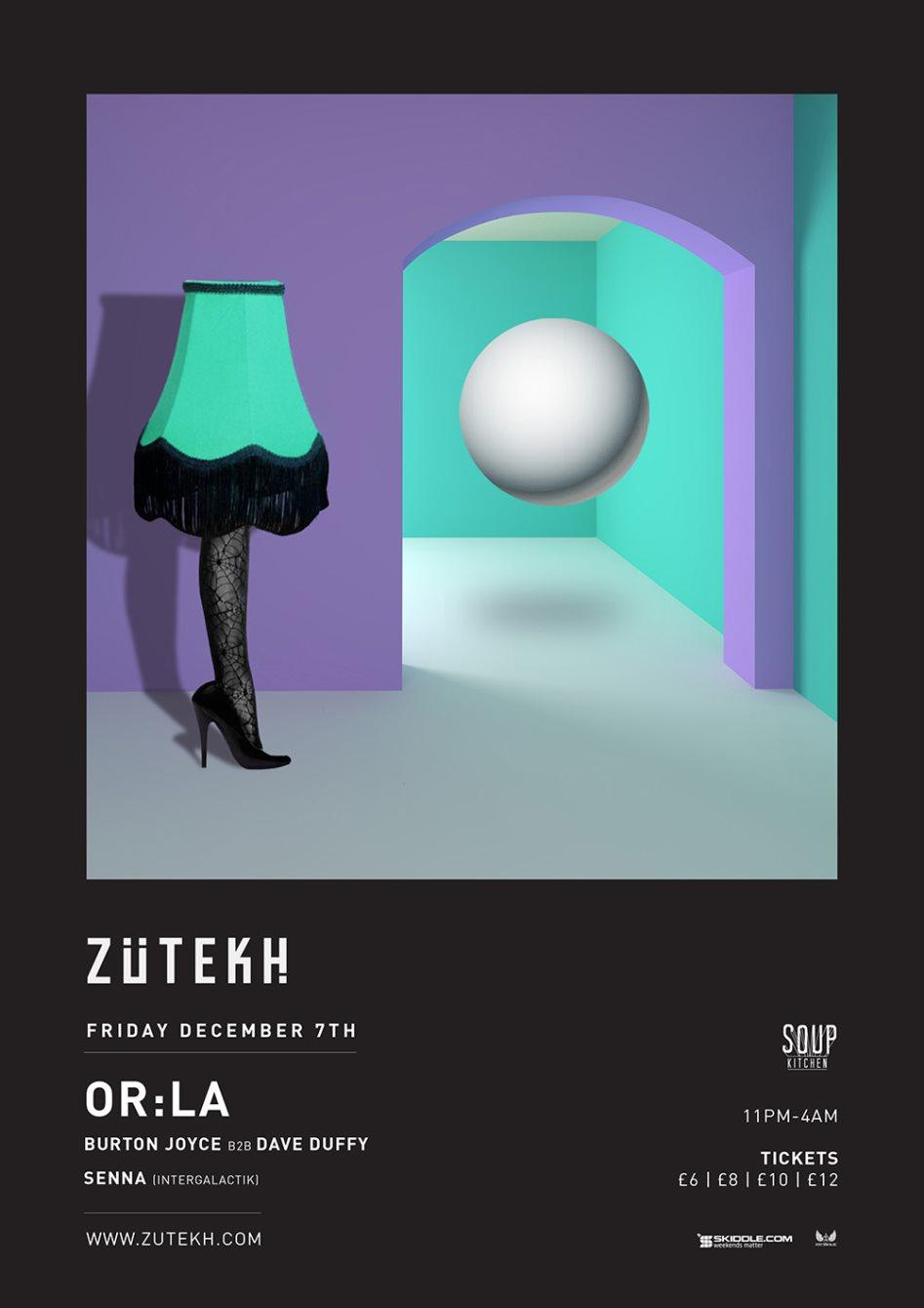 Zutekh presents Or:la - Flyer front