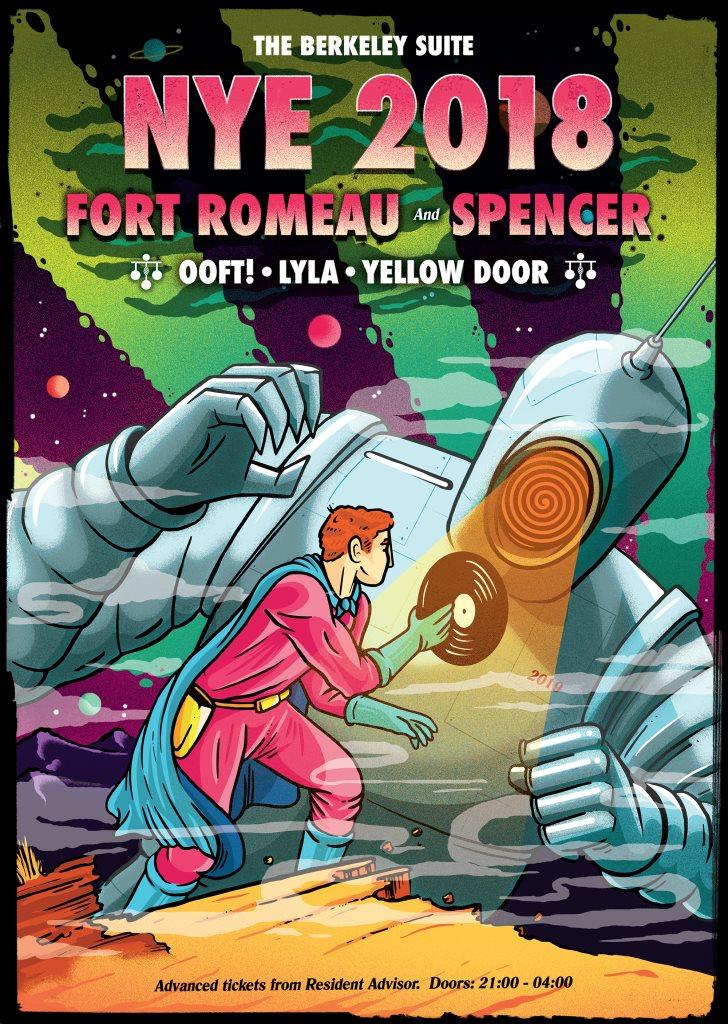 NYE with Fort Romeau, Spencer, Lyla & More - Flyer back