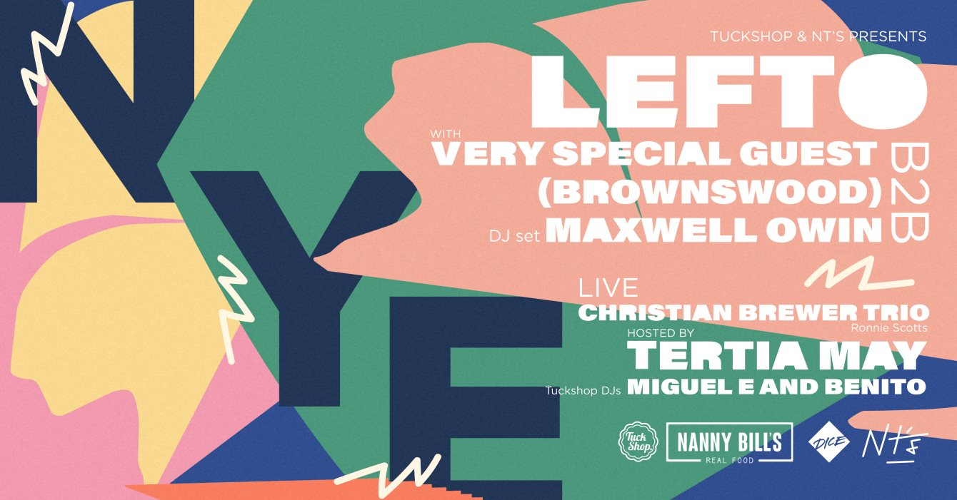 Tuckshop x NT's New Years Eve with Lefto & Special Guests - Flyer front