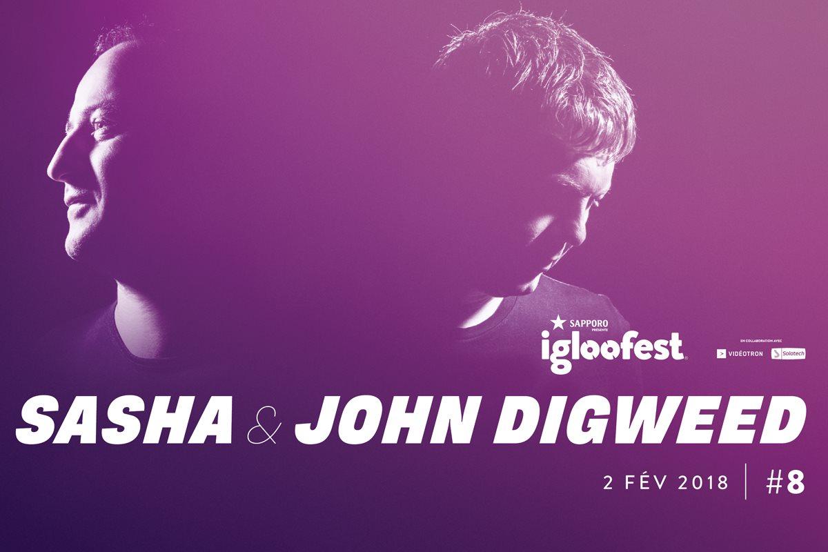 Igloofest #8: Sasha & John Digweed, Tone Depth, Pulses, Cassandria Daiva, DB - Flyer front