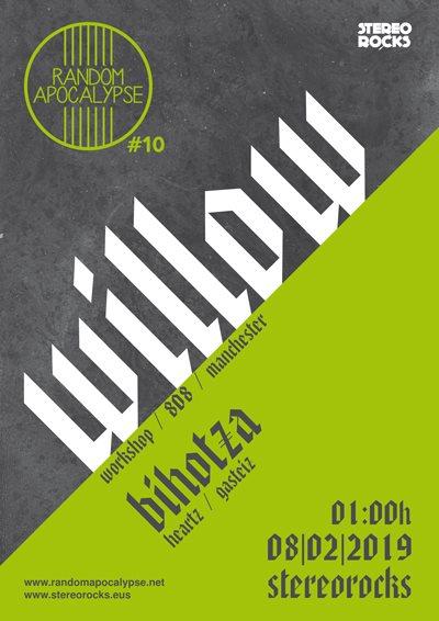 Random Apocalypse #10: Willow + Bihotza - Flyer front