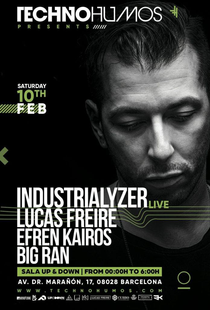 Technohumos presents: Industrialyzer (Live) - Flyer front