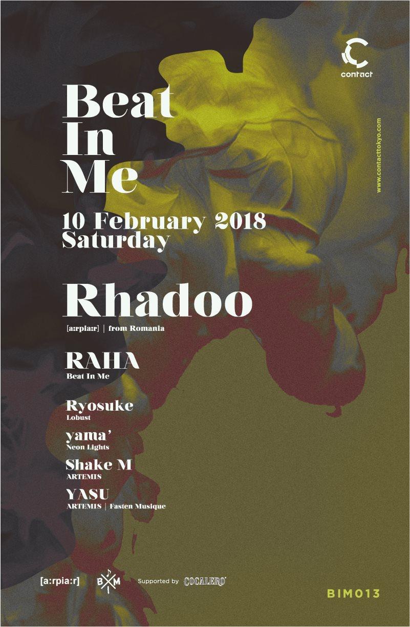 Beat In Me Feat. Rhadoo - Flyer front