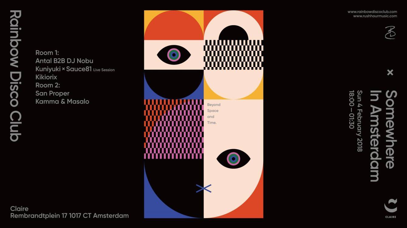 Rainbow Disco Club x Somewhere In Amsterdam - Flyer front