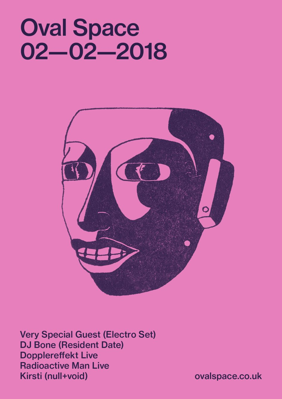 Oval Space with Very Special Guest (Electro Set), DJ Bone, Dopplereffekt Live, Radioactive Man - Flyer front