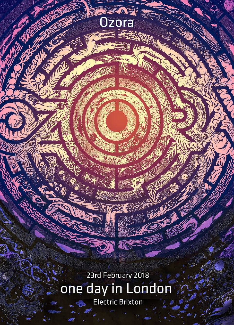 Ozora - One Day in London - Flyer front