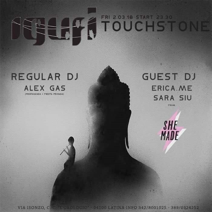 Touchstone with Erica:Me + Sara Siu + Alex Gas - Flyer front