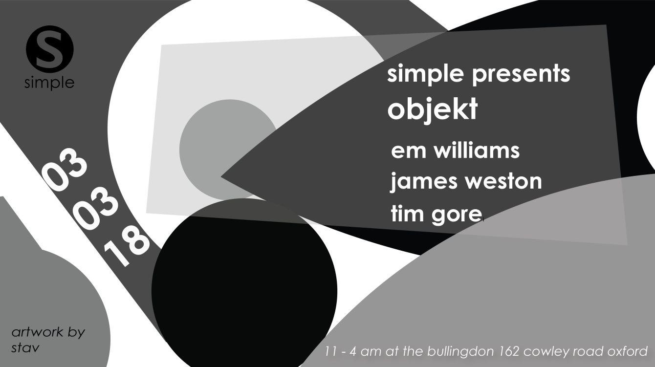 Simple presents Objekt - Flyer front