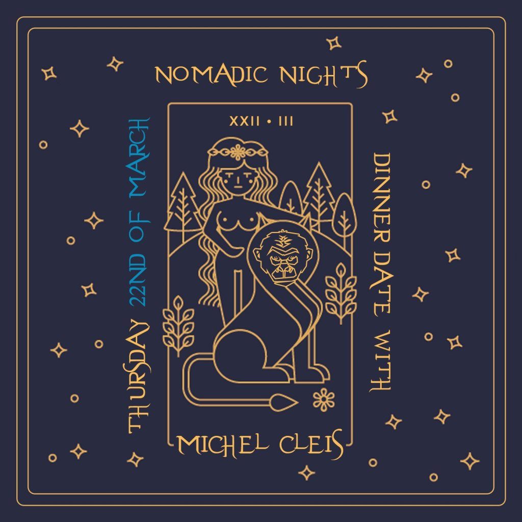 Nomadic Nights with Michel Cleis - Flyer front
