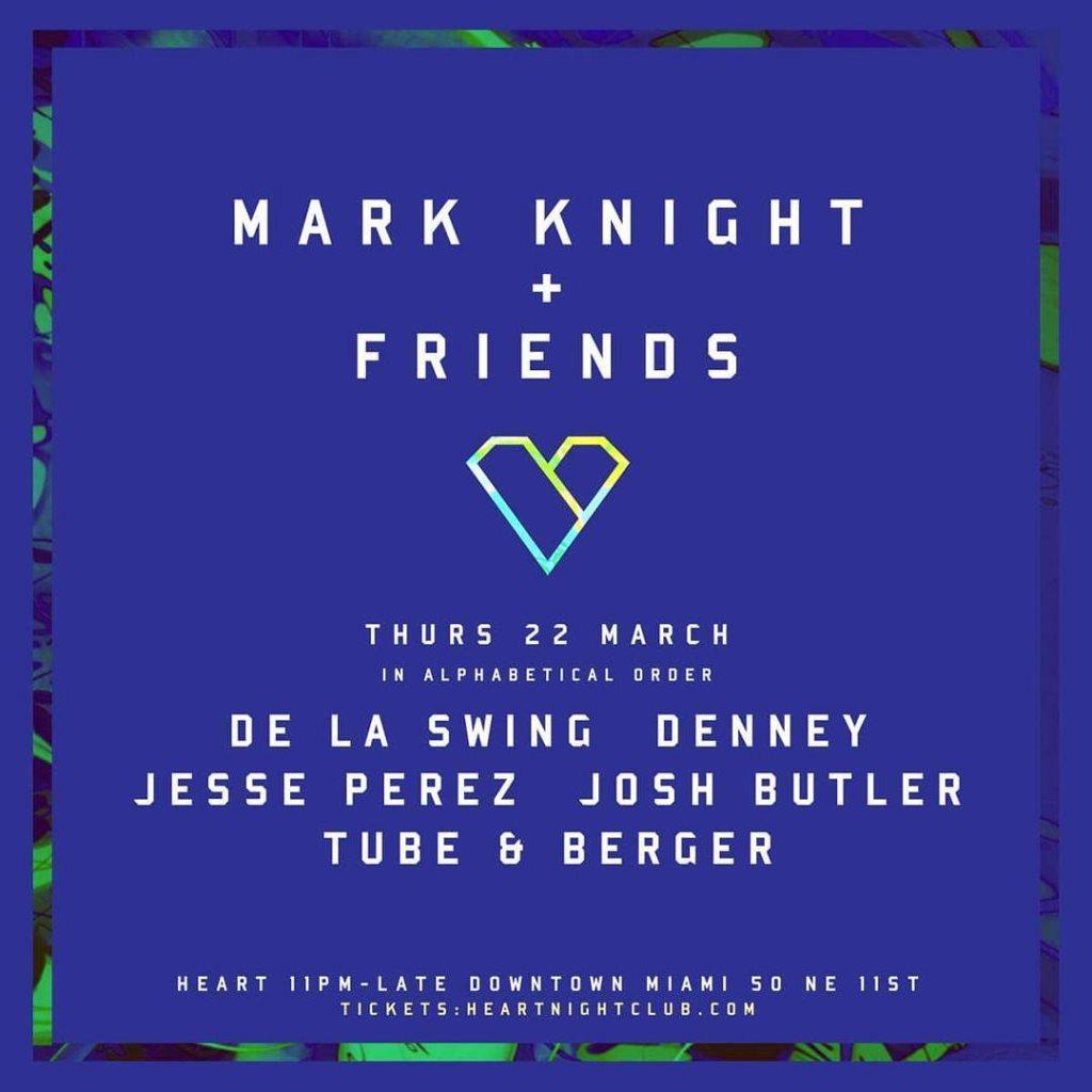 Mark Knight & Friends (Basement / MMW 2018) - Flyer front