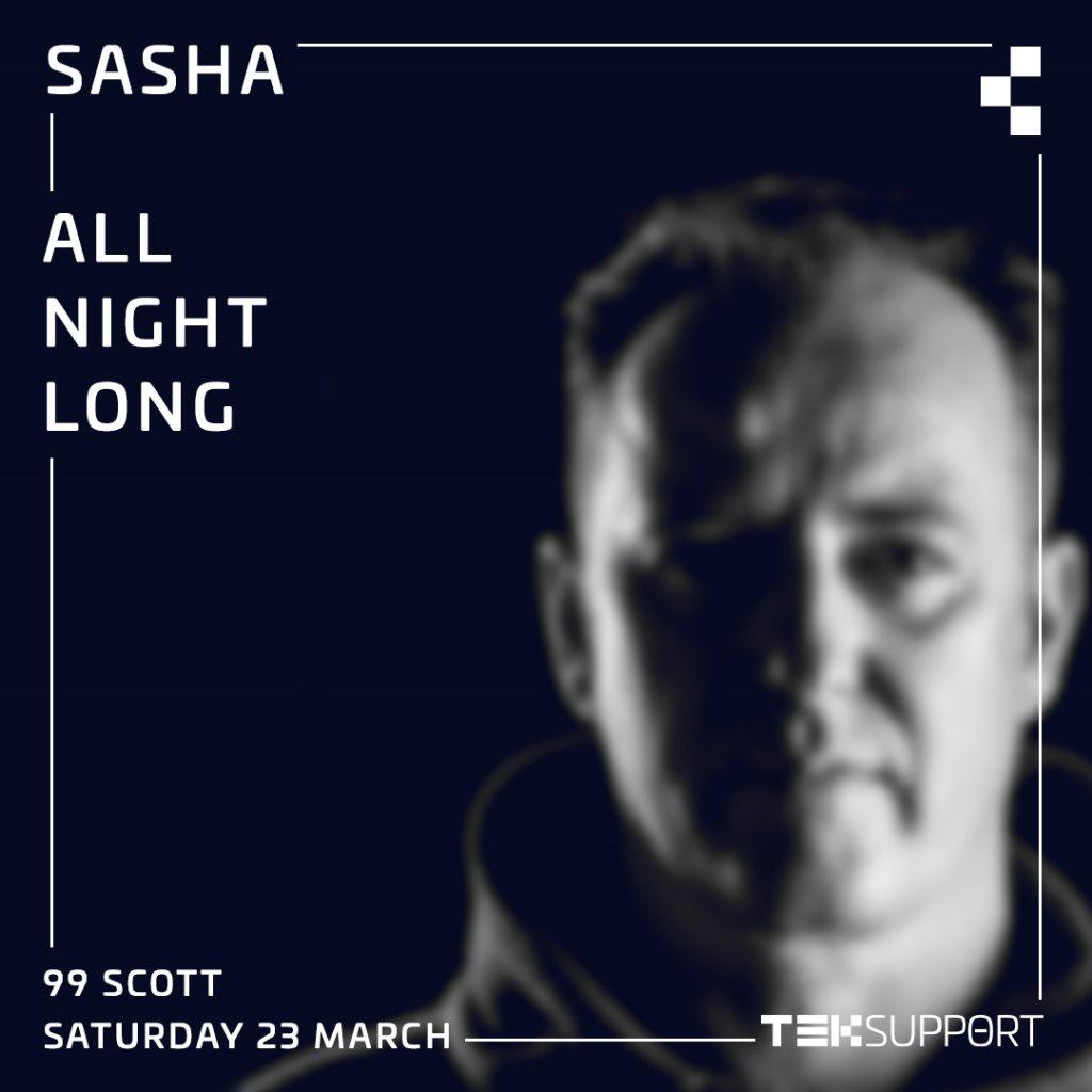 Teksupport: Sasha (All Night Long) - Flyer back