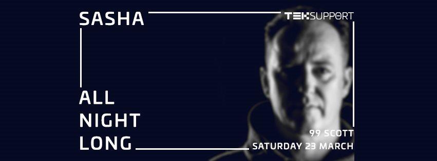 Teksupport: Sasha (All Night Long) - Flyer front