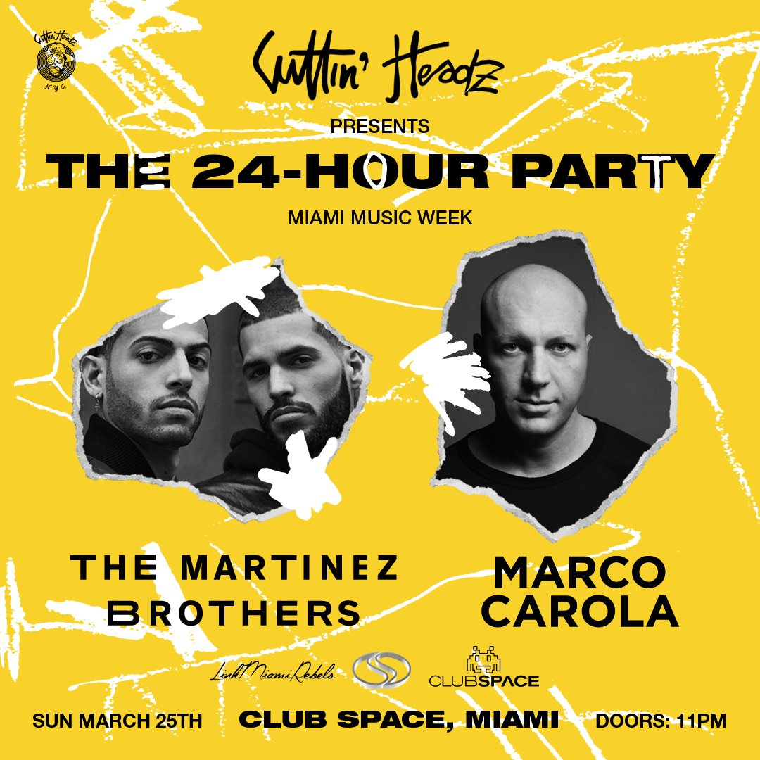 the Martinez Brothers + Marco Carola on the Space Terrace - 24hr MMW Closing Party - Flyer front