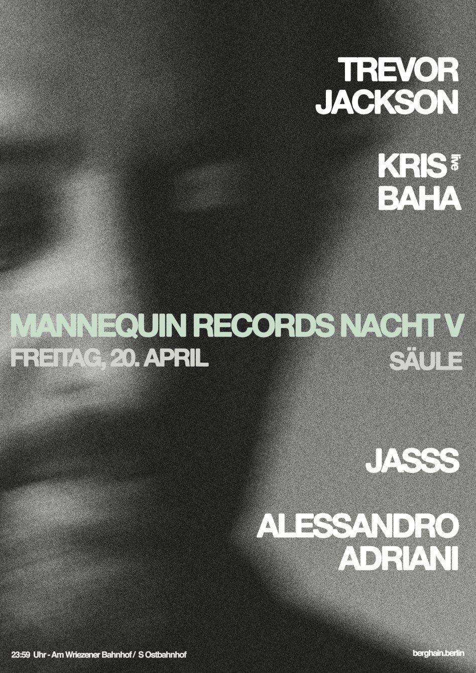Mannequin Records Nacht V - Flyer back