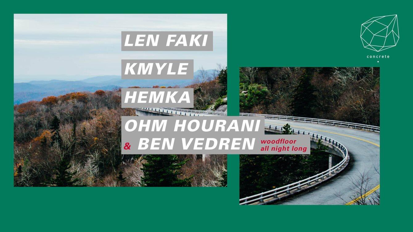 Concrete: Len Faki, Kmyle, Hemka, Ohm Hourani & Ben Vedren - Flyer front