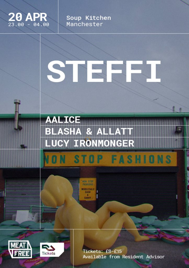 Meat Free presents Steffi - Flyer front