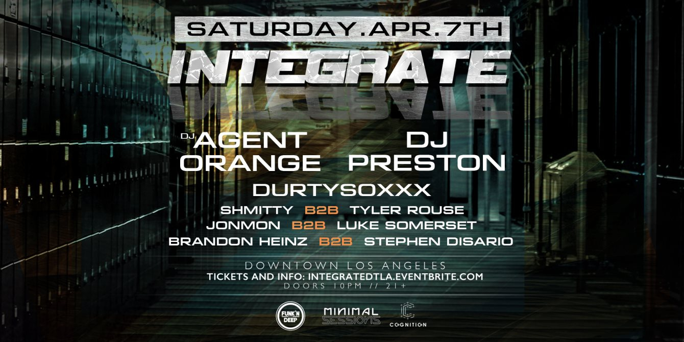 Integrate [Funk'n Deep x Minimal Sessions x Cognition] - Flyer front