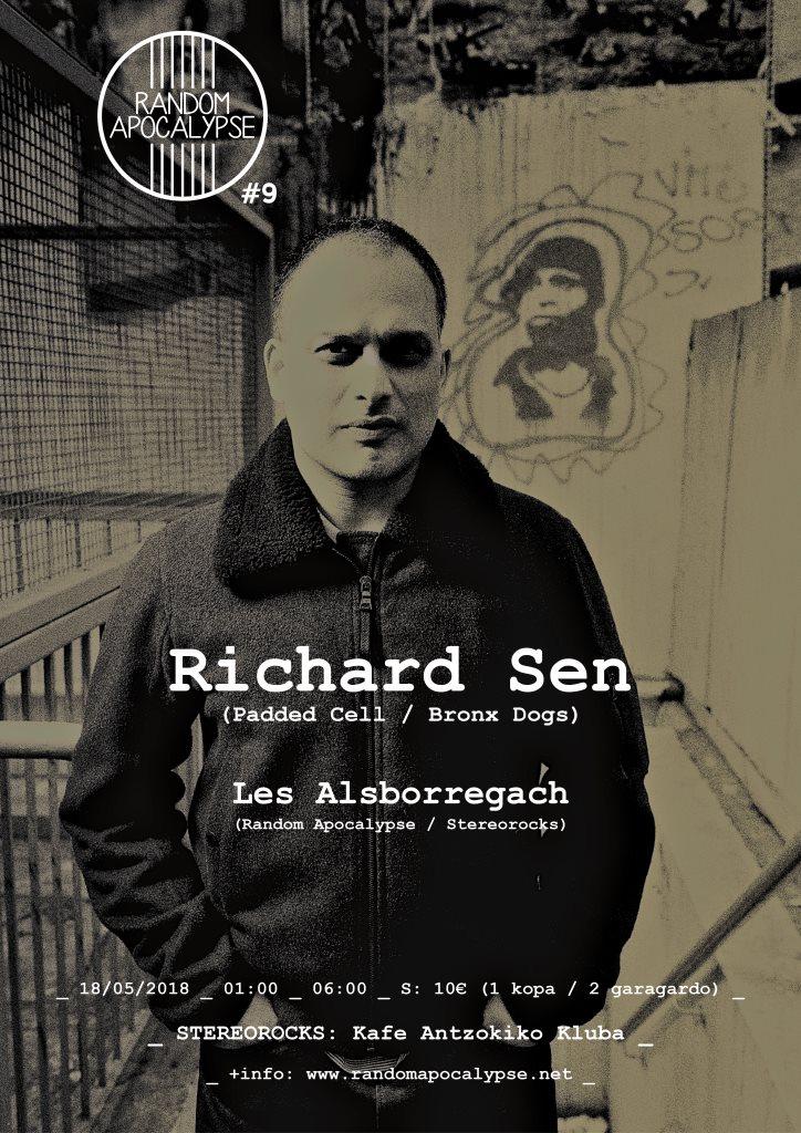 Stereorocks - Random Apocalypse #9: Richard SEN + LES Alsborregach - Flyer front