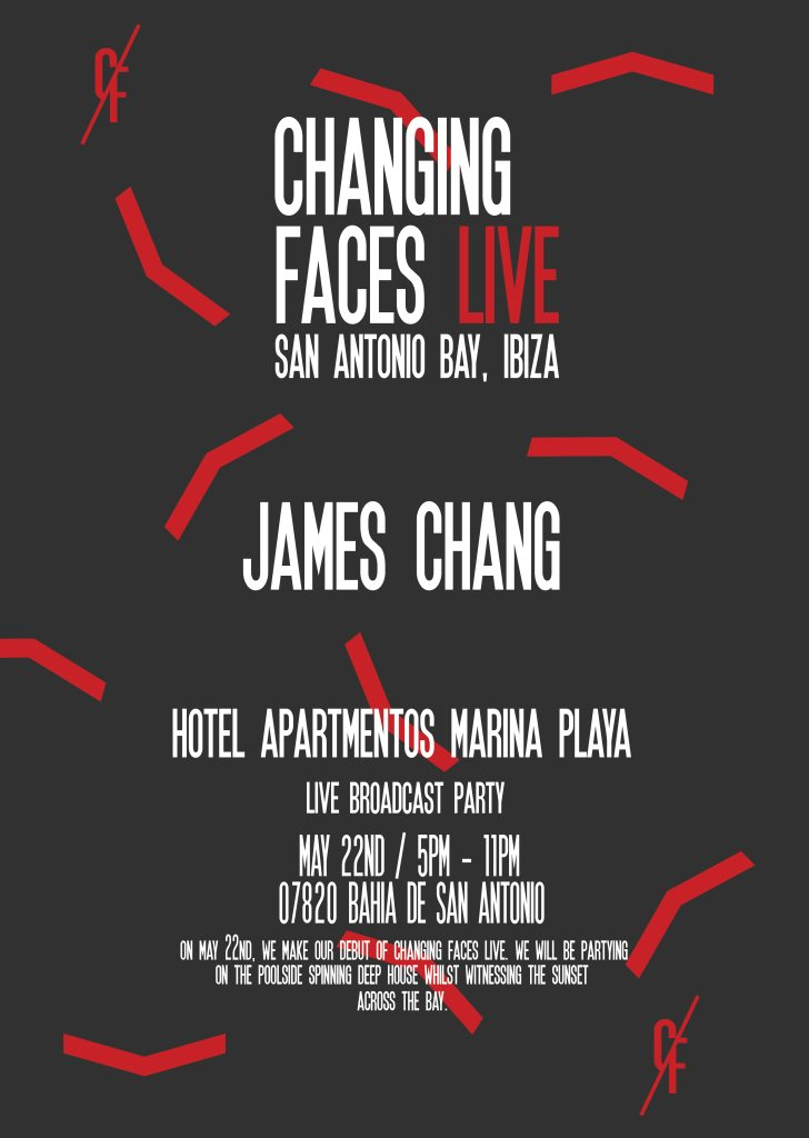 Changing Faces Live Ibiza - Flyer front