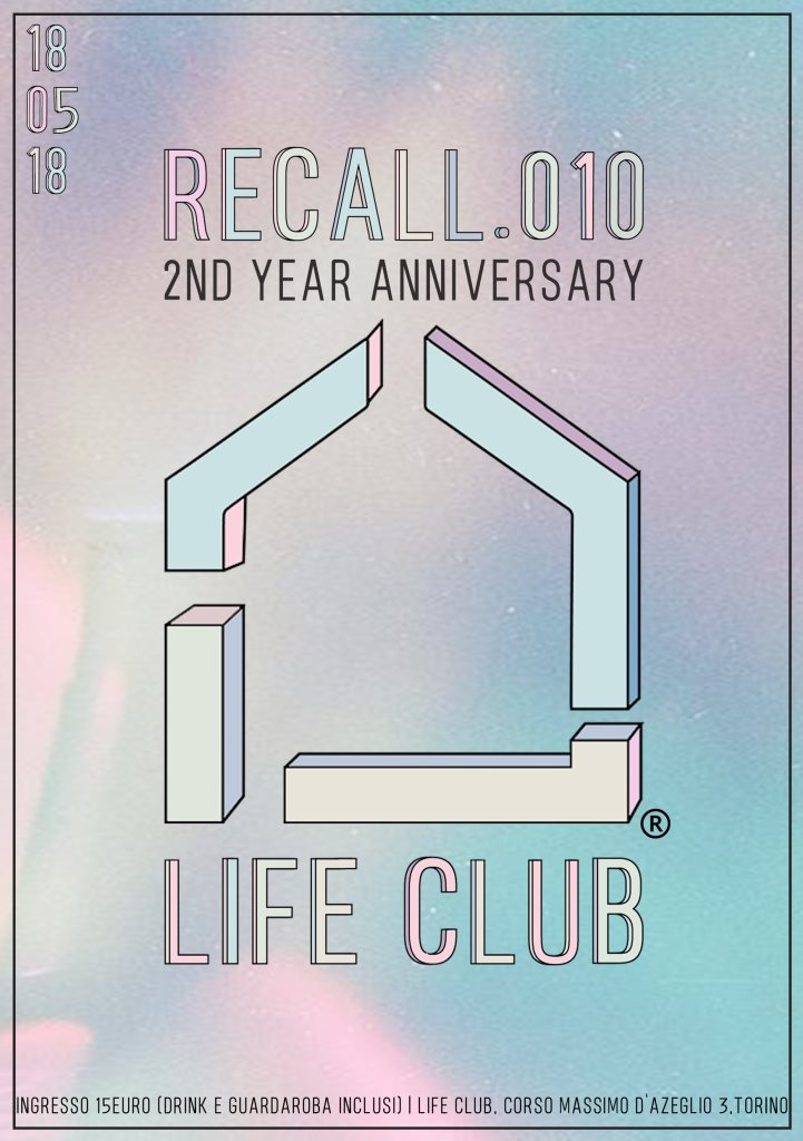Recall .010 - 2nd Anniversary - Flyer front