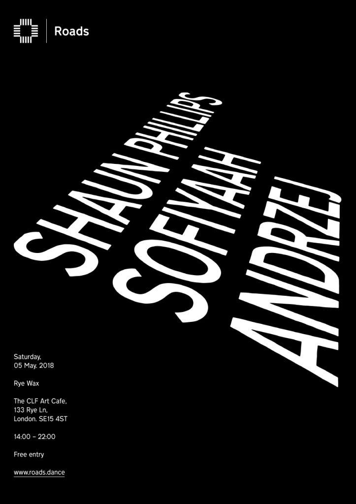 Roads 16: Shaun Phillips, Sofiyaah & Andrzej - Flyer front