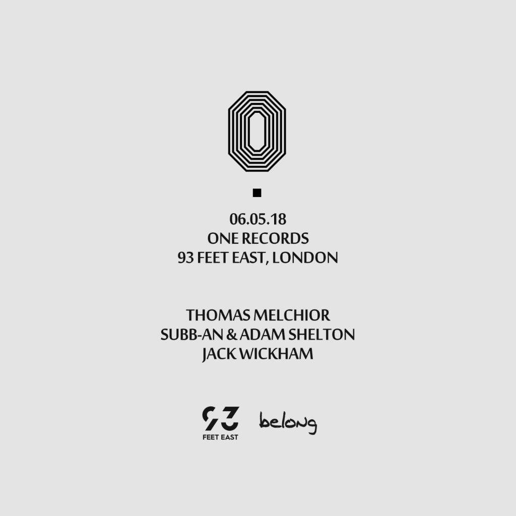 One Records: Thomas Melchior, Subb-An & Adam Shelton - Flyer back