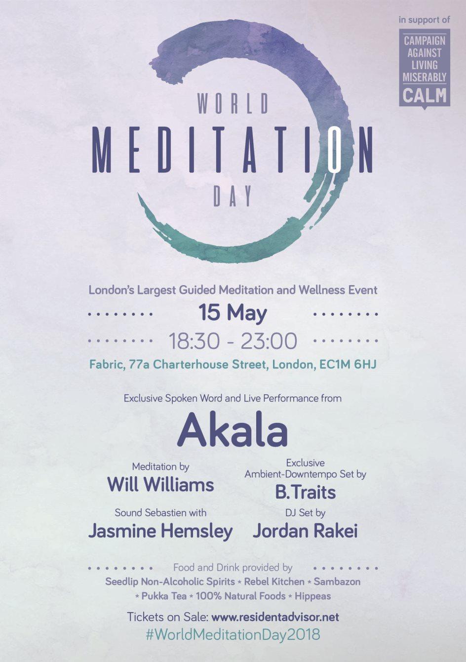 World Meditation Day - Flyer front