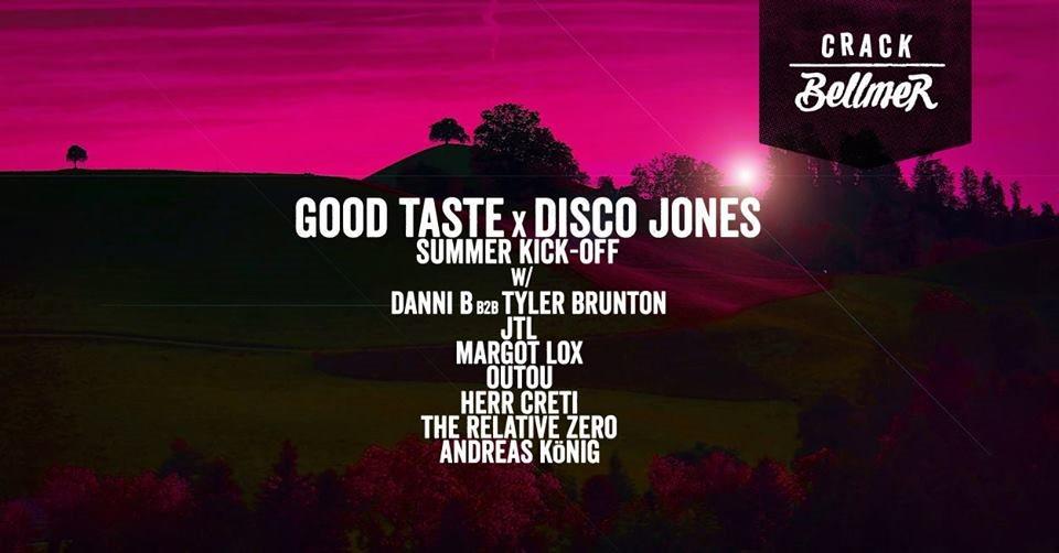 Good Taste x Disco Jones: Summer Kick-off - Flyer front