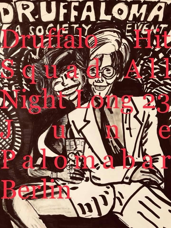 Druffaloma: High Society - Flyer front