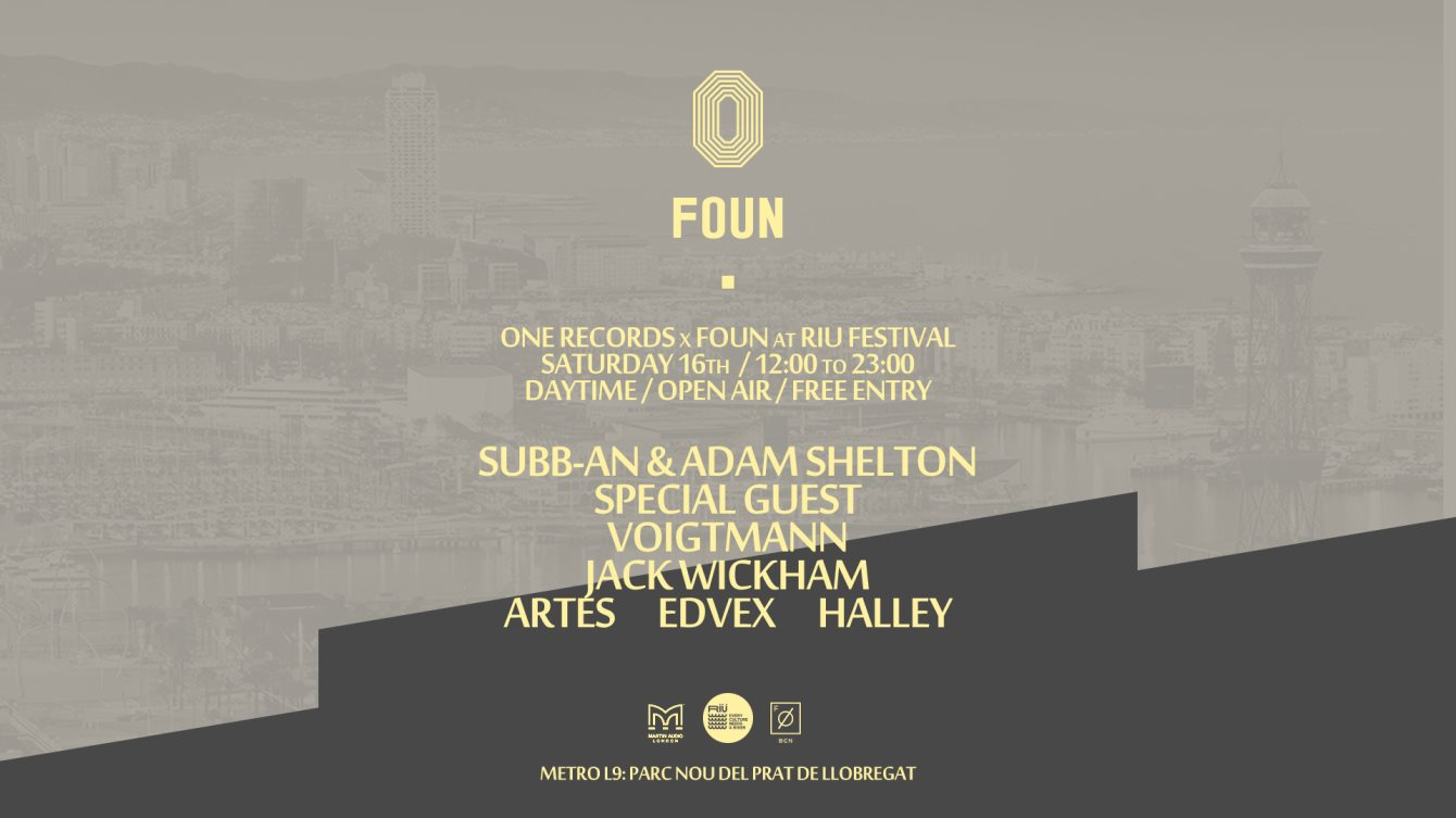 Foun x One Records at RIU Off Week 2018 - Flyer front