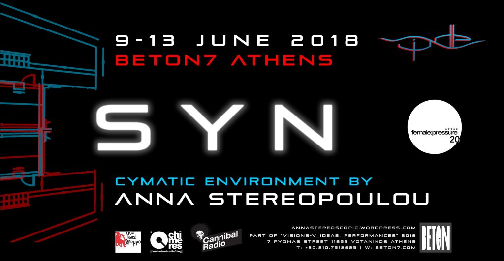 SYN by Anna Stereopoulou with AV Works by Female:Pressure - Flyer front