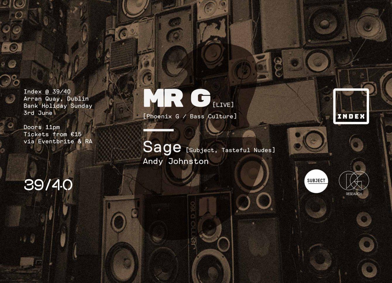 Mr.G - Live & Sage - Flyer front