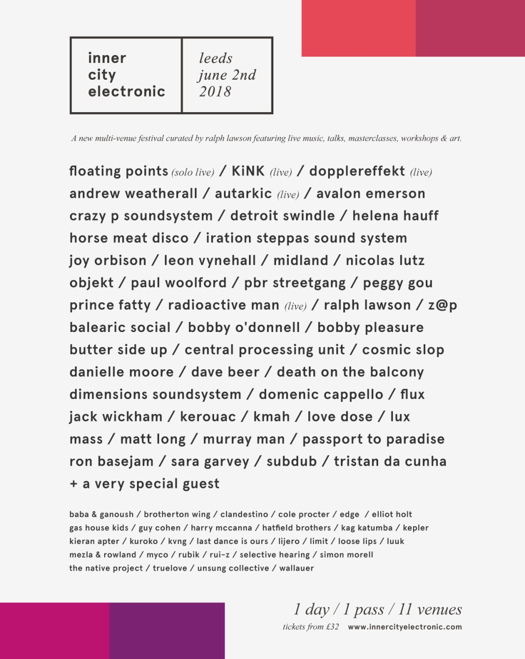 inner city electronic - Flyer front