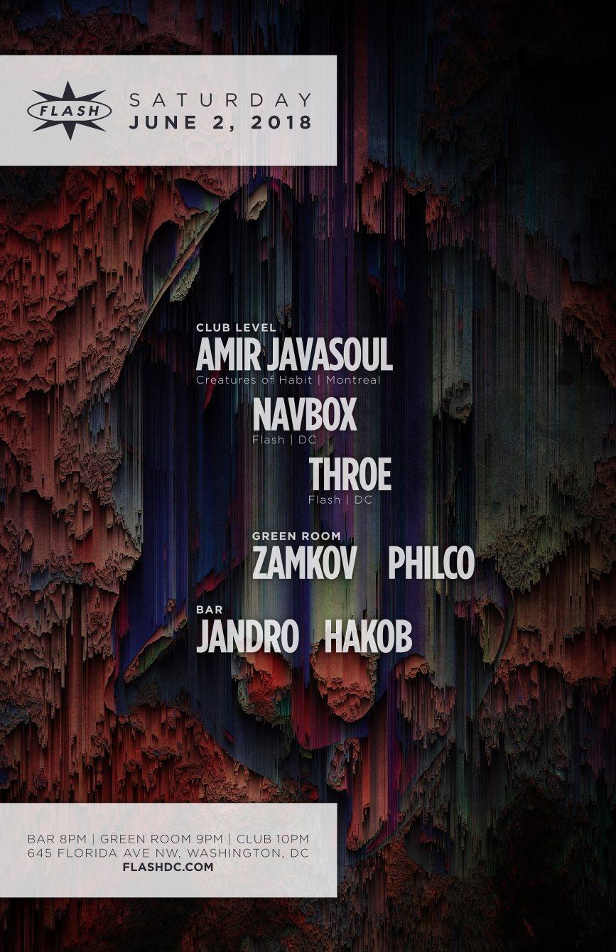 Amir Javasoul - Navbox - Throe - Flyer back