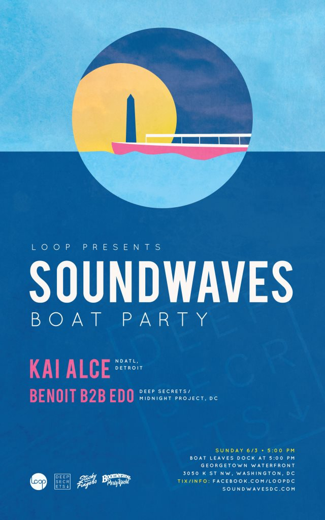 Soundwaves Boat Party with Kai Alce - Flyer front