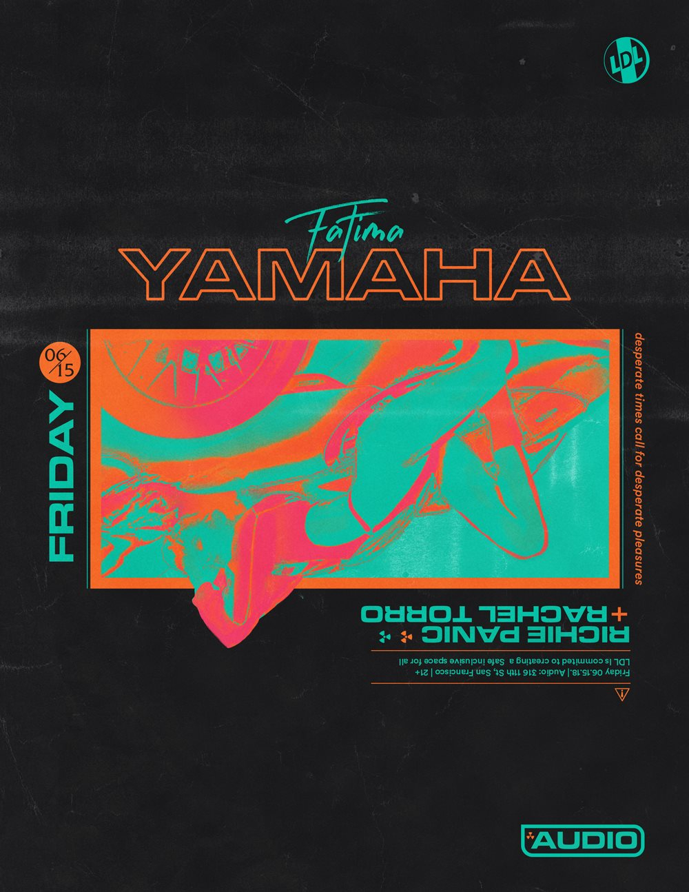 Lights Down Low SF Feat. Fatima Yamaha (Live) - Flyer front