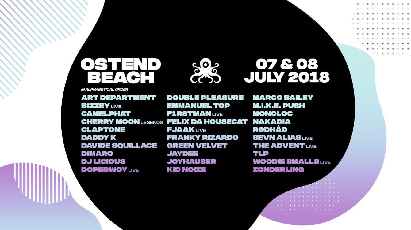 Ostend Beach Festival 2018 - Flyer back