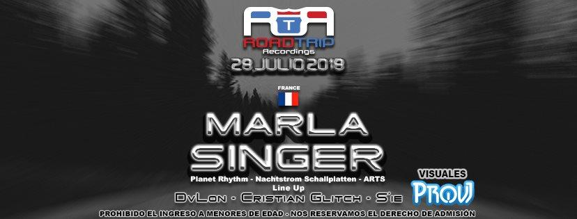Road Trip Pres. Marla Singer en Cartago - Flyer back