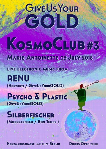 Kosmoclub #3 - Flyer front