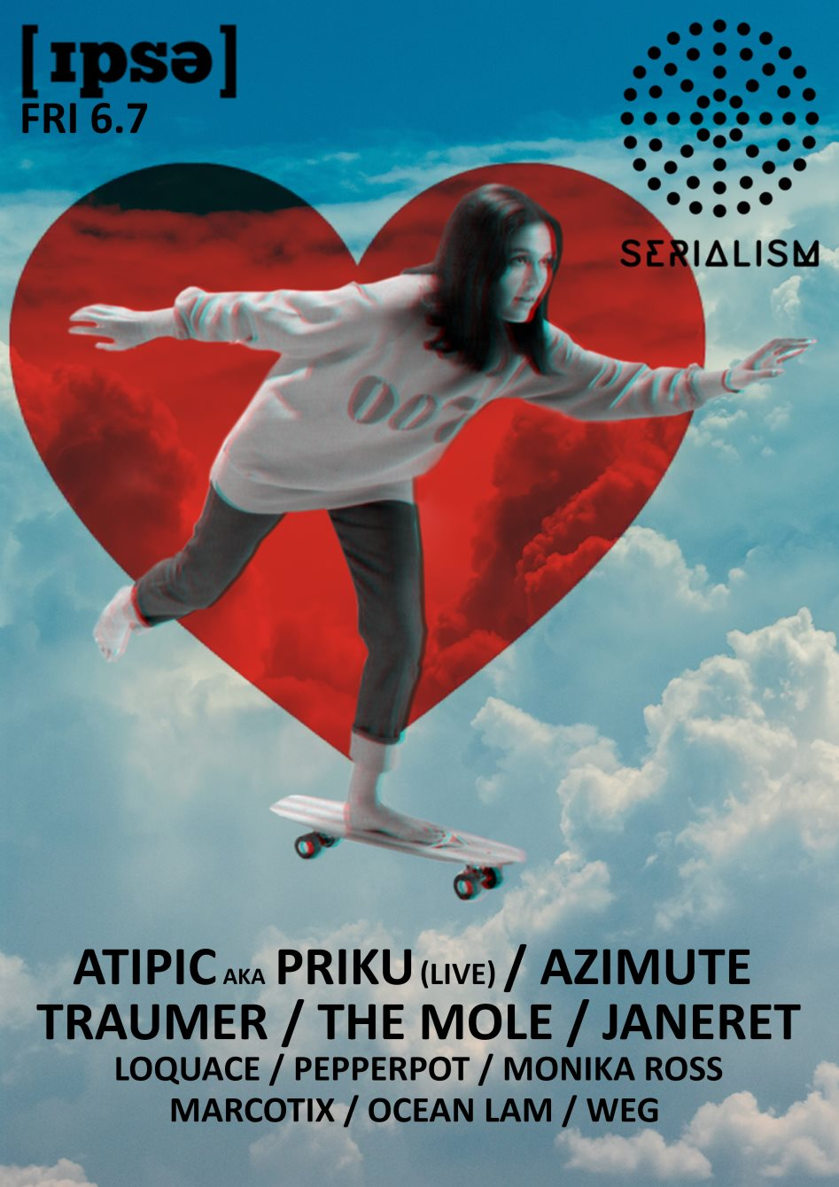 Serialism Night with Traumer, Priku, The Mole a.m - Flyer back