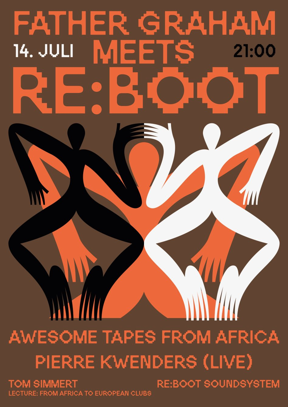 Awesome Tapes From Africa & Pierre Kwenders // FG x Re:Boot - Flyer front