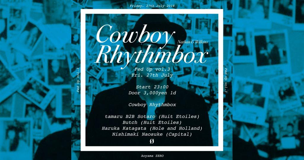 Fed Up vol.3 Cowboy Rhythmbox - Flyer front