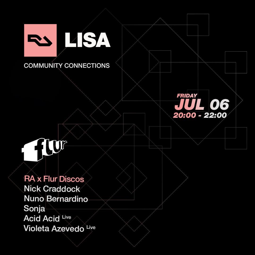 RA Lisa: Flur Discos - Flyer front
