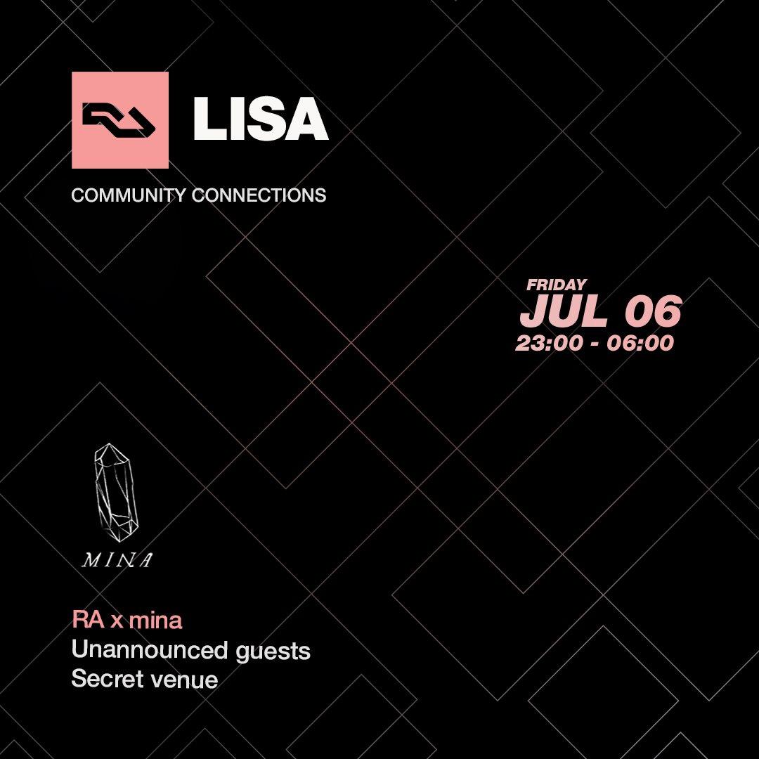 RA Lisa: mina - CANCELLED / ZDB - Flyer front