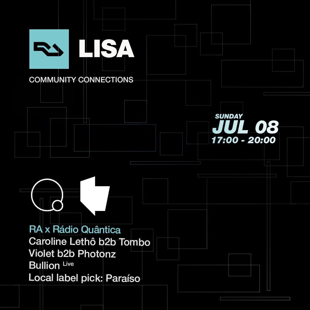 RA Lisa: Rádio Quântica - Flyer front