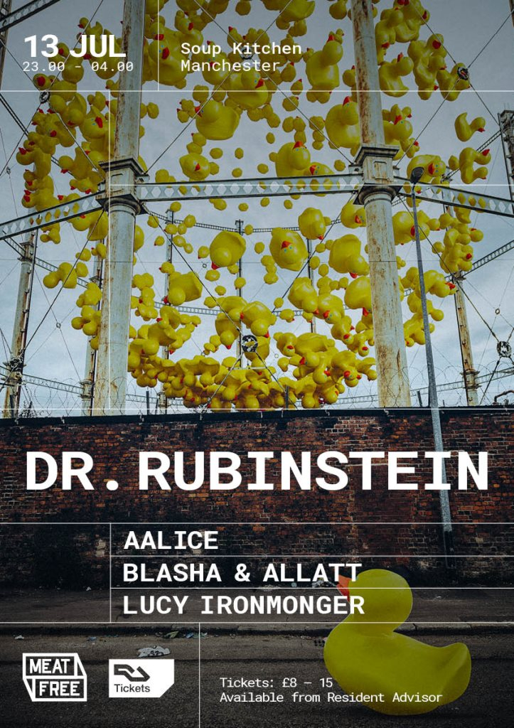 Meat Free with Dr. Rubinstein - Flyer front