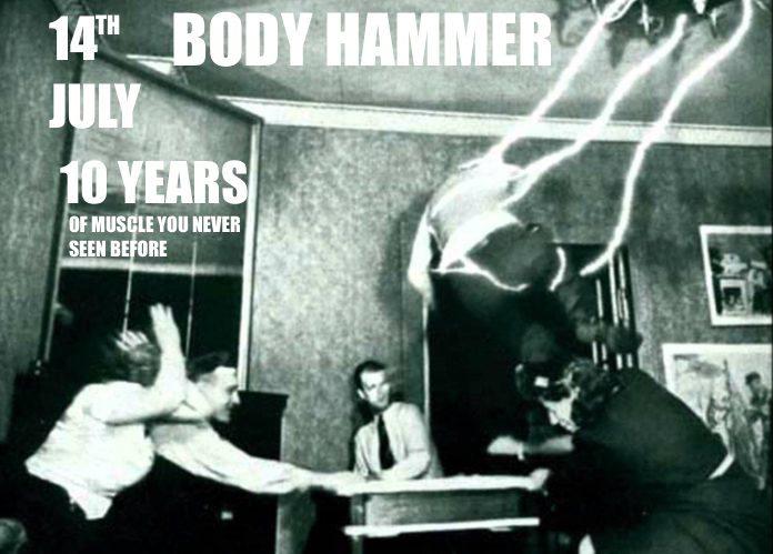 Body Hammer 10th Birthday - Flyer front