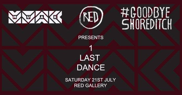 1 Last Dance with muak, Red Gallery - Flyer front