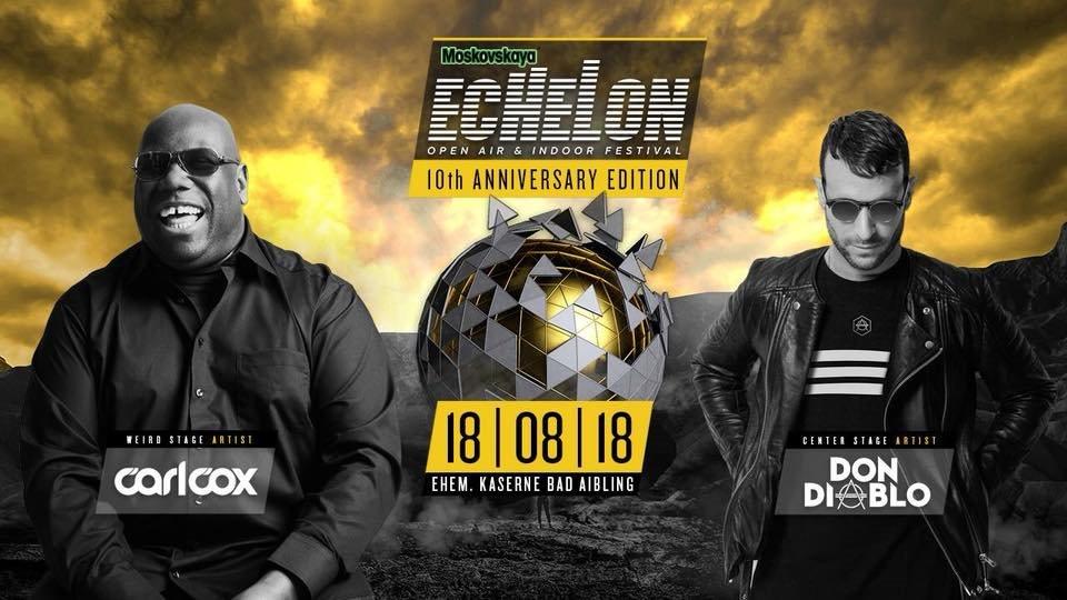 Echelon Festival - ten Years Anniversary - Flyer front