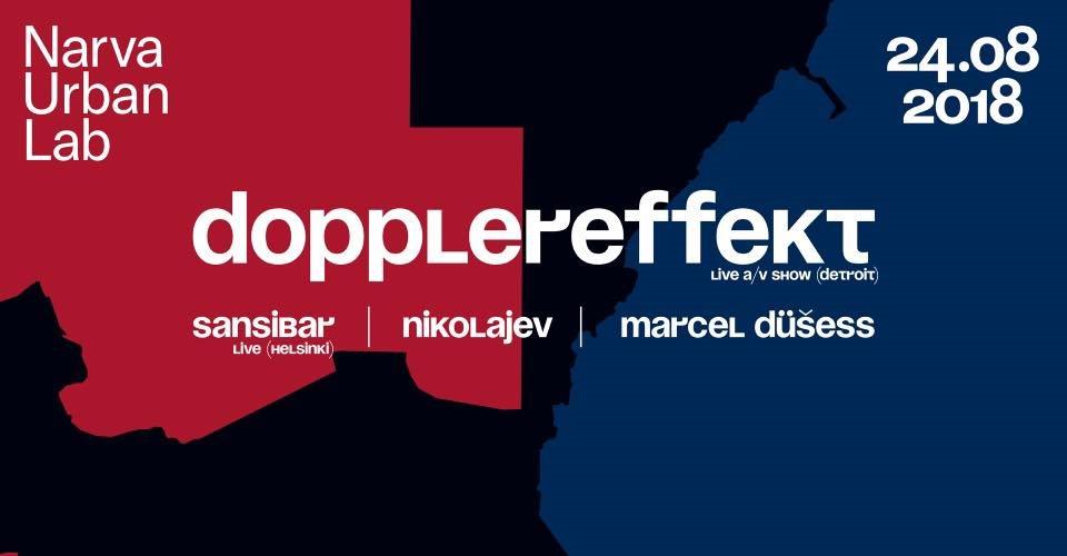 Narva Urban Lab: Dopplereffekt A/V Show - Flyer front